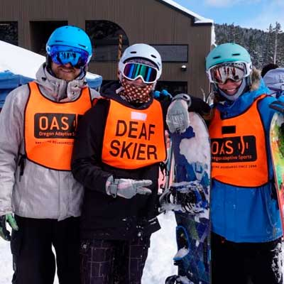 D-deaf and Hard of Hearing Skiing