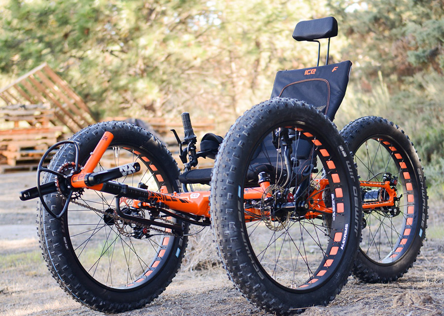 recumbent leg powered off road tricycle