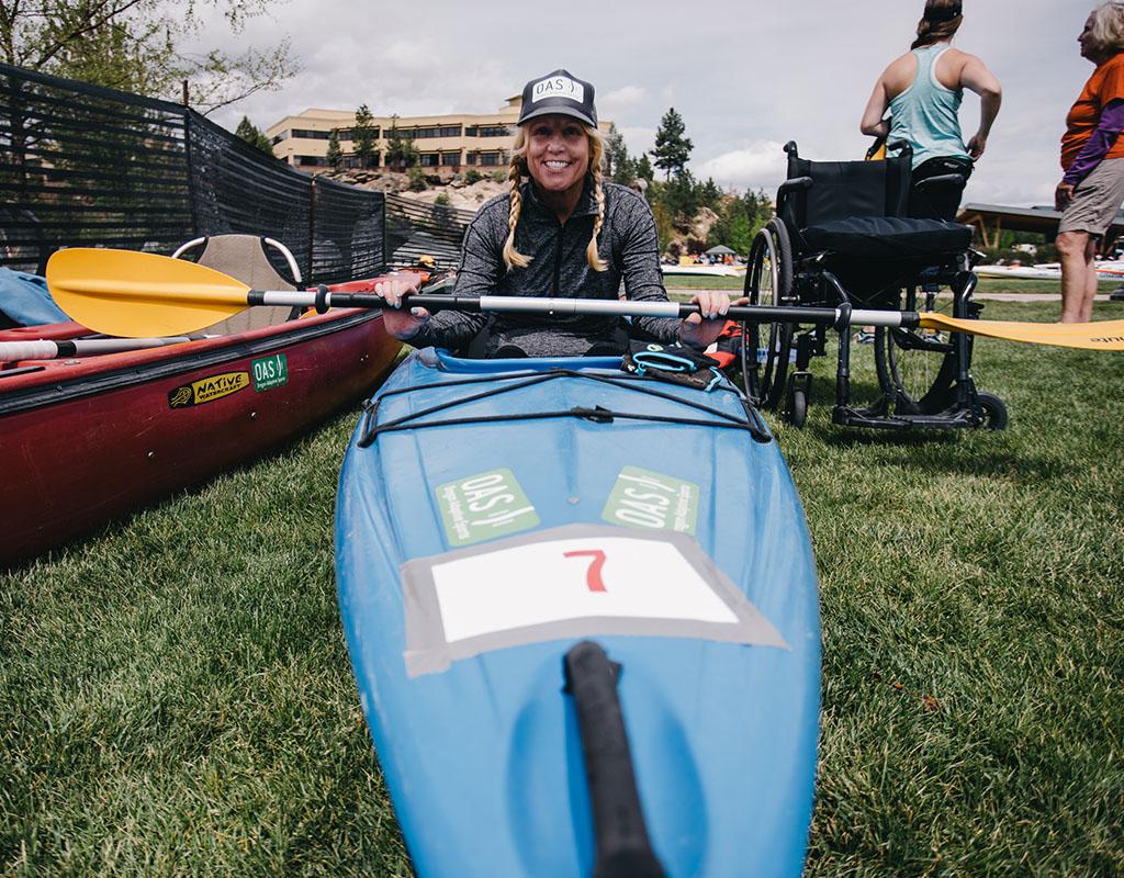 paddler in boat