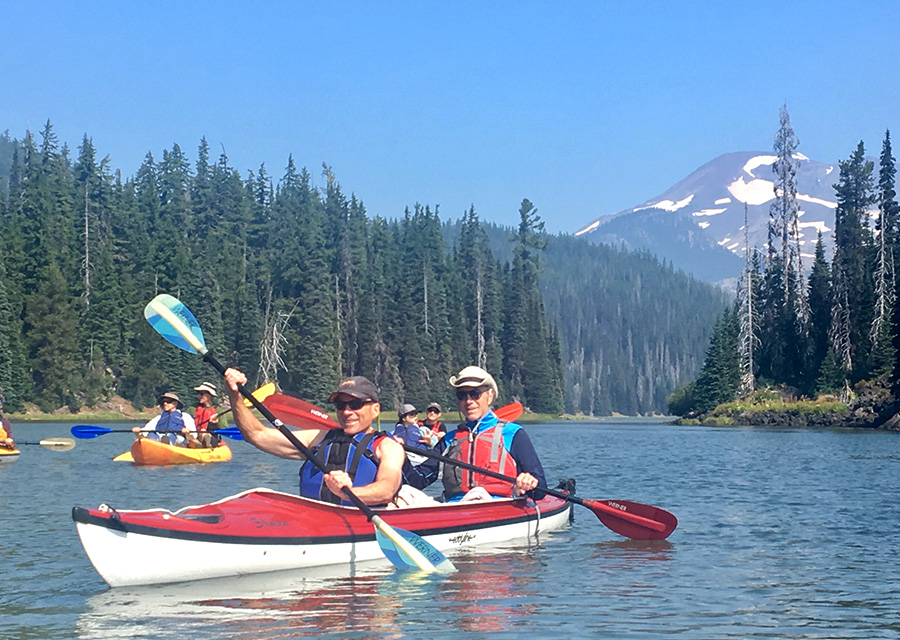 tandem kayaks on Sparks Lake