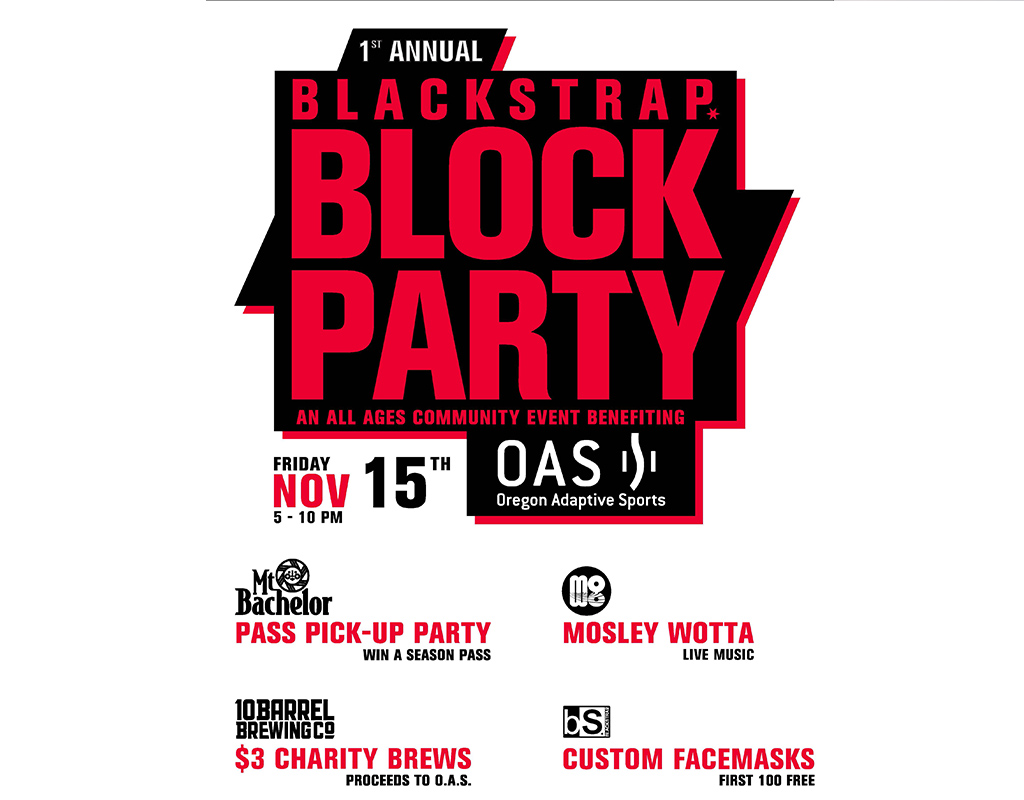 Blackstrap block party poster