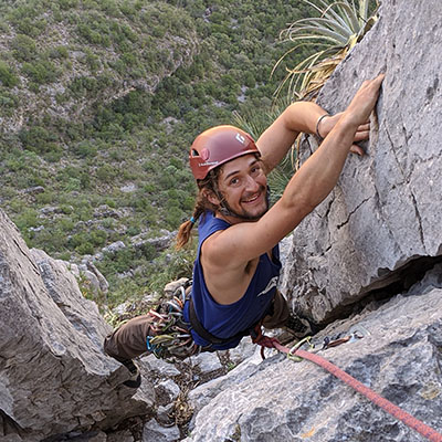 photo of marc rock climbinh