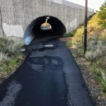 paved path through tunnel at larkspur