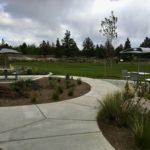 paved path to picnic tables at rockridge