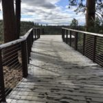 wood walkway to viewpoint at riley ranch