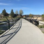 paved colorado footbridge with rails