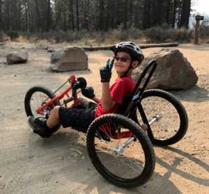 kenji on youth handcycle off road