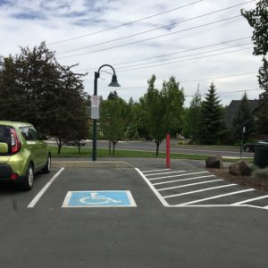 ADA parking at blakely park