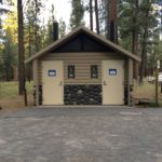 ADA forest service restroom building at shevlin