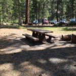 picnic table at benham east
