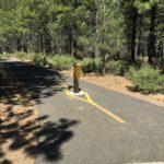trail intersection on paved trail