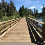 wooden walkway bridge benham east bend oregon