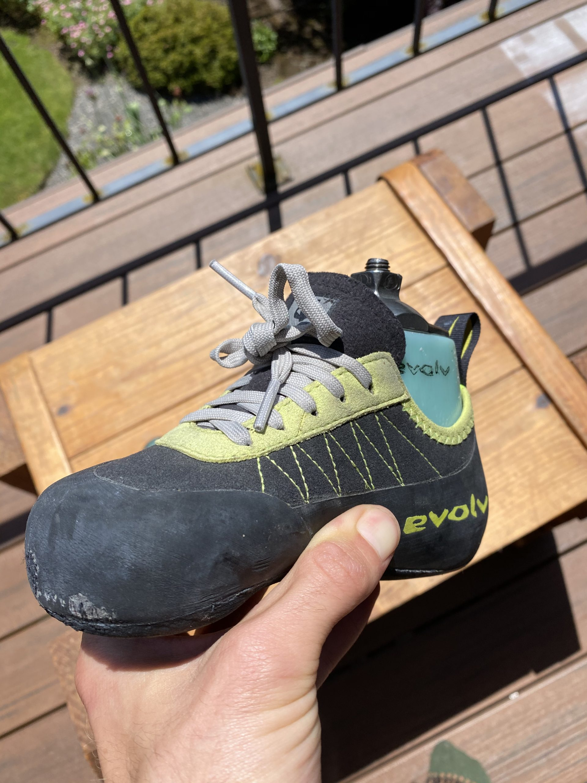 evolv adaptive climbing foot with shoe