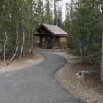 forest service bathroom building at sparks lake