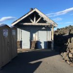 forest service bathroom with two stalls