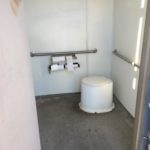 inside of forest service pit toilet