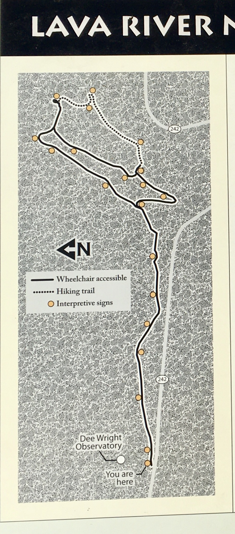 map of observatory trails