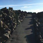 paved uphill