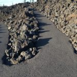 paved switchback on paved trail