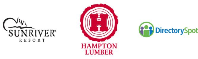 Sunriver, Hampton Lumber, and Directory Spot logos