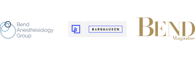Barghausen Consulting, Bend Magazine, Bend Anesthesiology logos